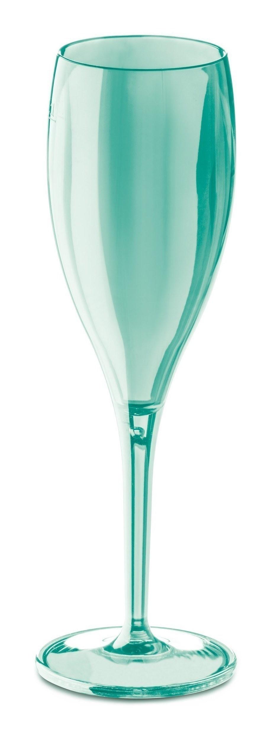 Kieliszki do szampana Cheers 4 szt. jade