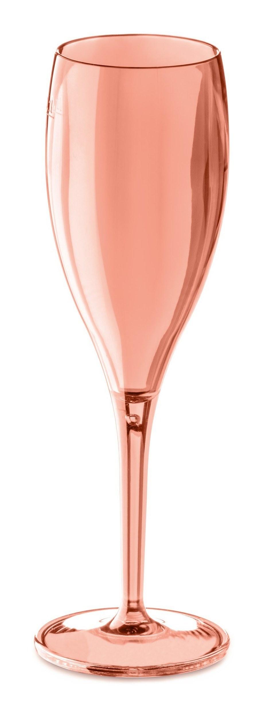 Kieliszki do szampana Cheers 4 szt. rose quartz