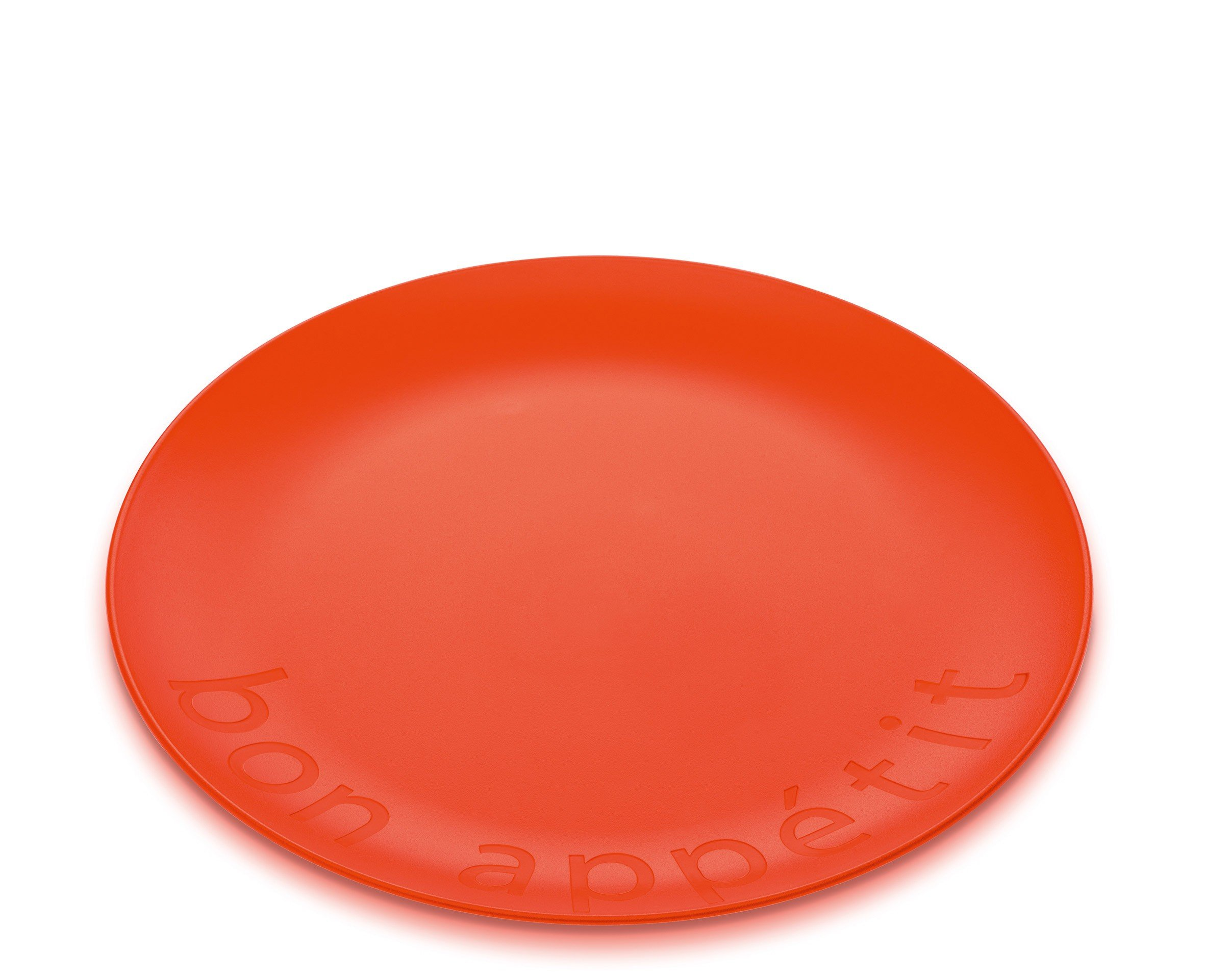 Talerz Rondo 4 szt. pomarańczowoczerwony