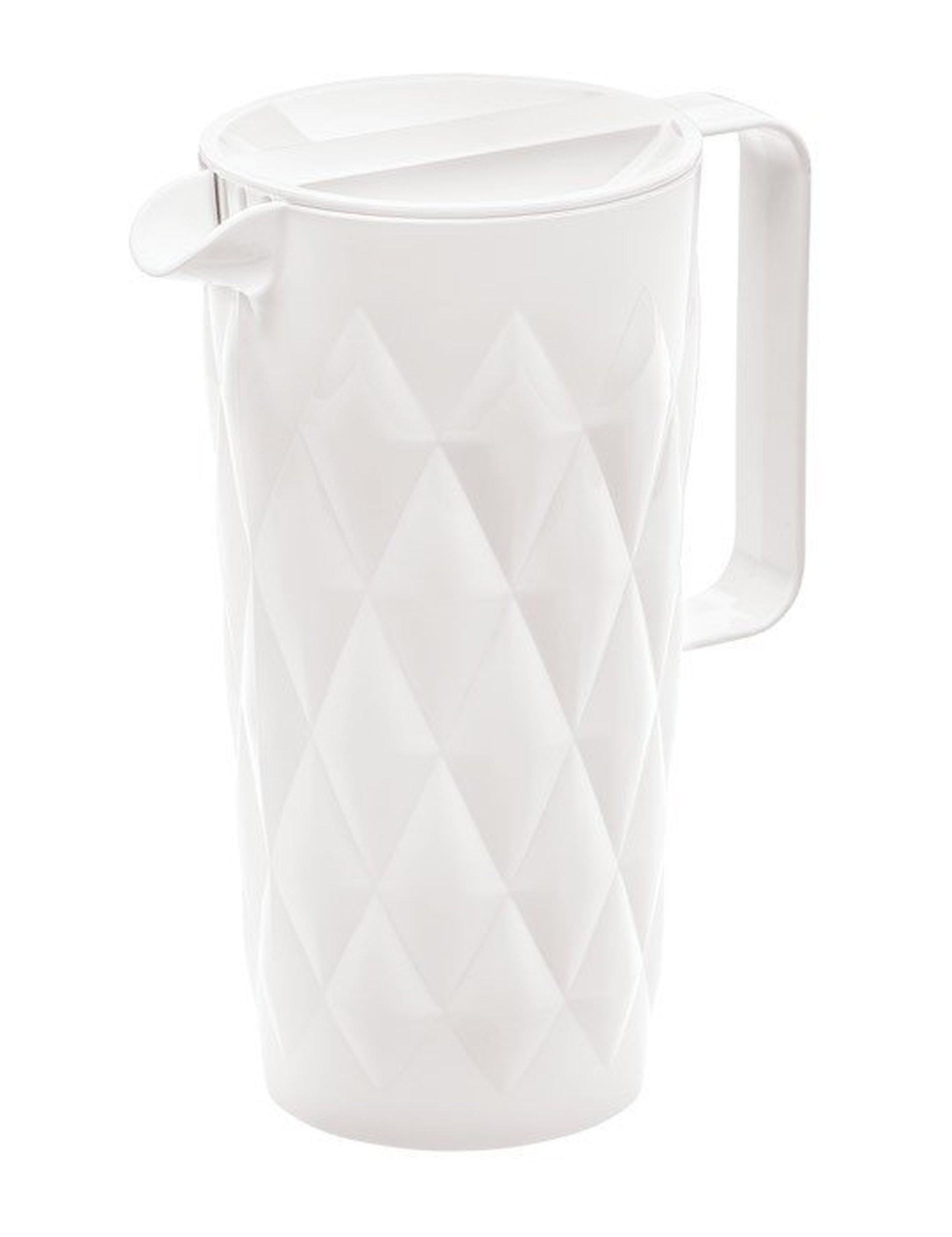 Dzbanek Crystal biały nieprzezroczysty