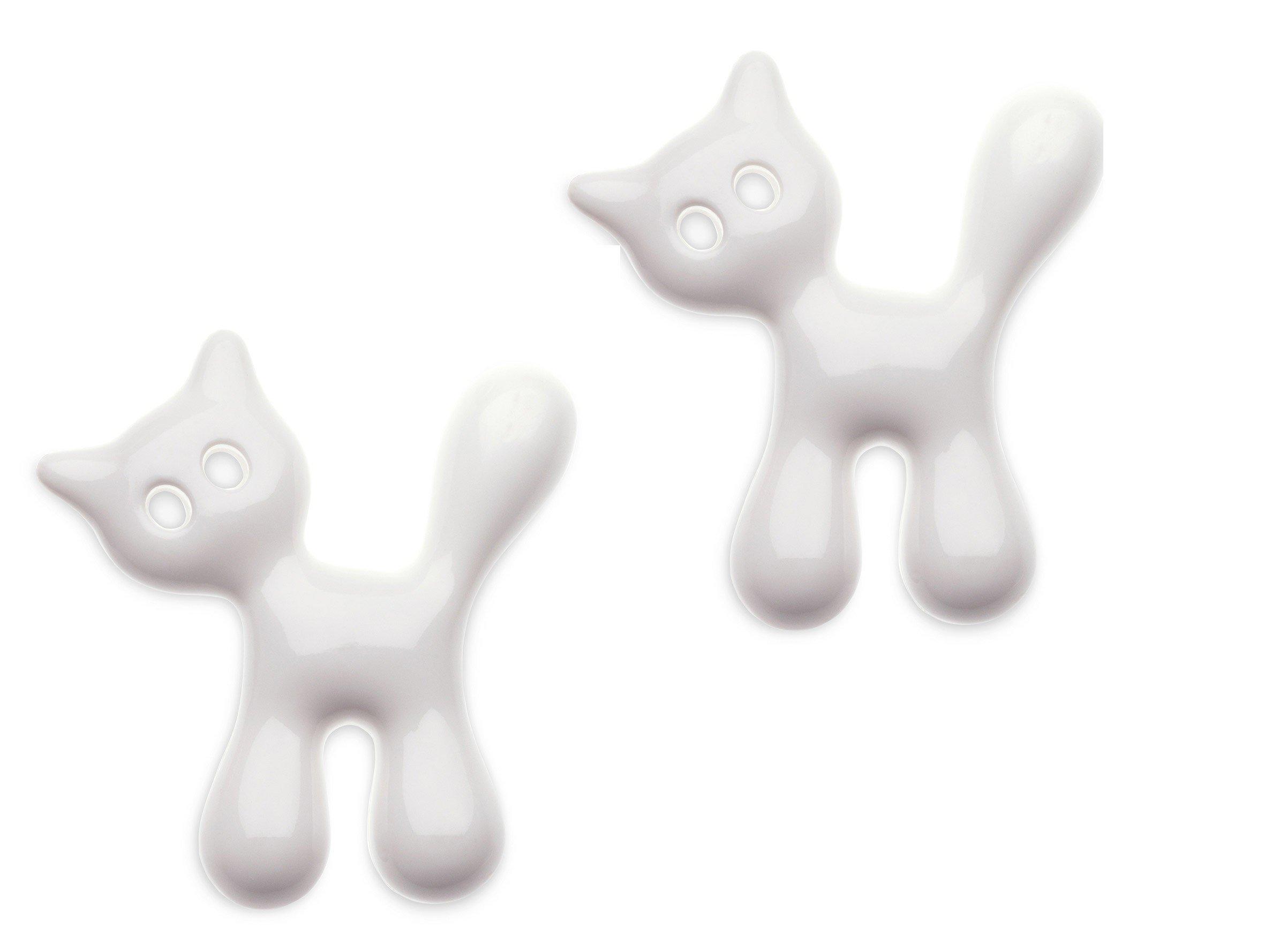 Magnes Miaou 2 szt. biały