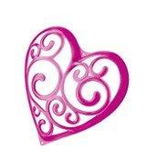 Wieszak na akcesoria Sissi różowy transparentny - małe zdjęcie