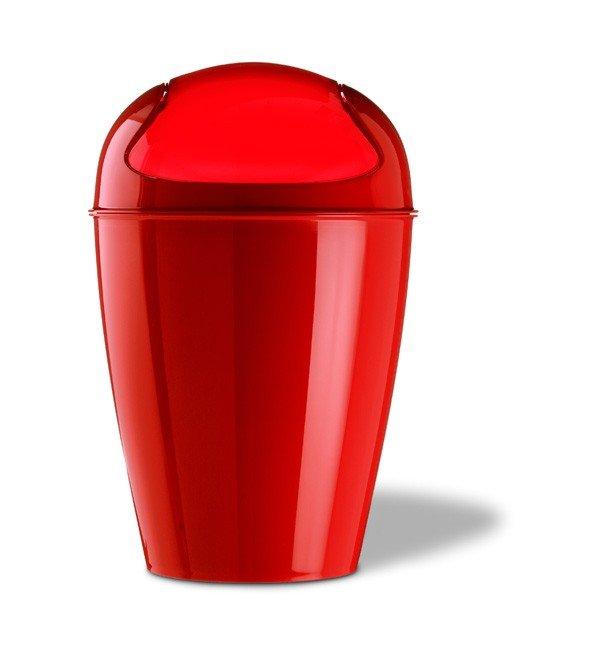 Kosz na śmieci Del XS czerwony