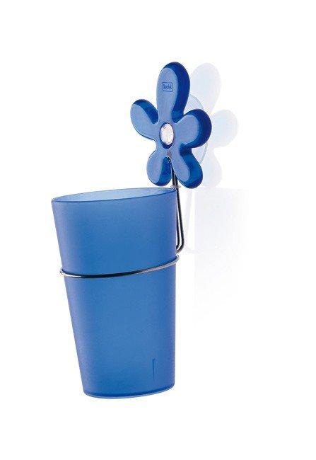 Kubek łazienkowy z uchwytem A-Pril niebieski