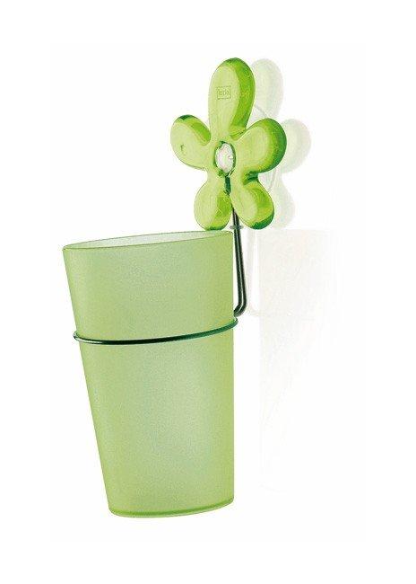 Kubek łazienkowy z uchwytem A-Pril zielony