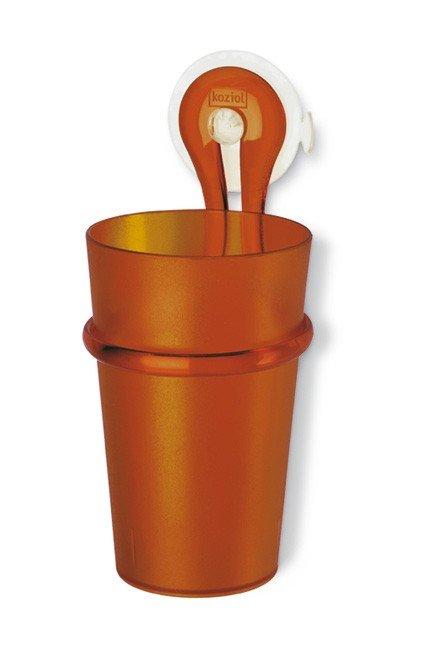 Kubek łazienkowy z uchwytem Loop brązowy