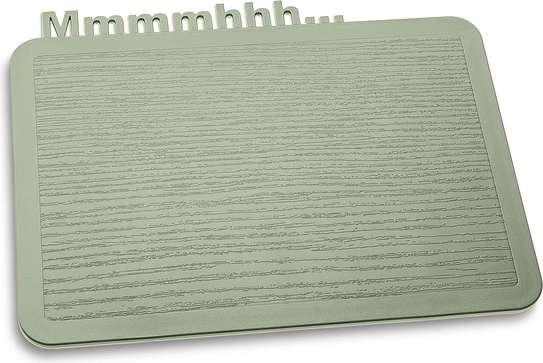 Deska śniadaniowa Happy Boards Mmmmhhh... zieleń eukaliptusowa