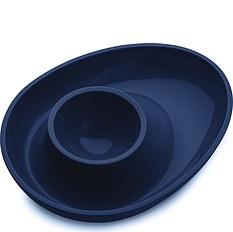 Kieliszek do jajek Columbus welwetowy błękit
