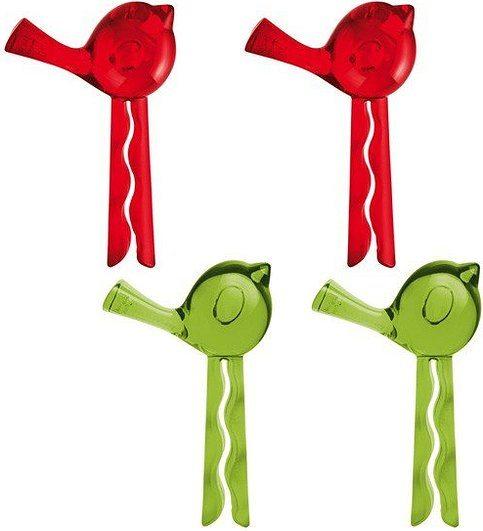 Klips Pi:P 4 szt. przezroczyste oliwkowe i przezroczyste malinowe