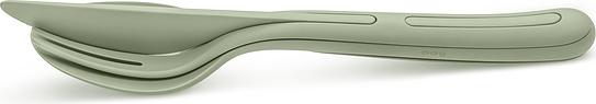 Komplet sztućców Klikk zieleń eukaliptusowa 3 el.