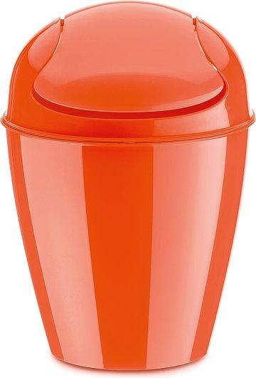 Kosz na śmieci Del XXS pomarańczowoczerwony