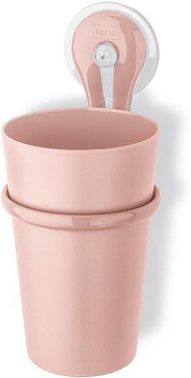 Kubek łazienkowy z uchwytem Loop pastelowy róż