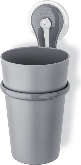 Kubek łazienkowy z uchwytem Loop szary