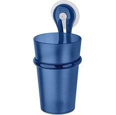 Kubek łazienkowy z uchwytem Loop welwetowy błękit