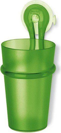 Kubek łazienkowy z uchwytem Loop zielony