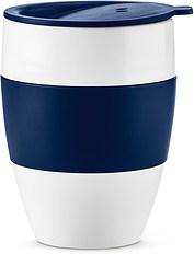 Kubek termiczny Aroma To Go 2.0 biały i welwetowy błękit