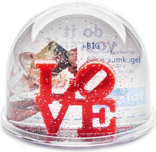 Kula śnieżna Love z wkładką na zdjęcie 7,5 cm