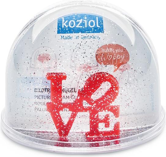 Kula śnieżna Love z wkładką na zdjęcie 9 cm