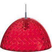 Lampa Stella czerwona przezroczysta