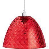 Lampa Stella S czerwona przezroczysta