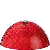 Lampa Stella XL czerwona przezroczysta