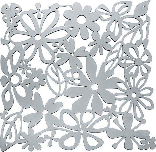Panel dekoracyjny Alice 4 szt. antracytowy transparentny