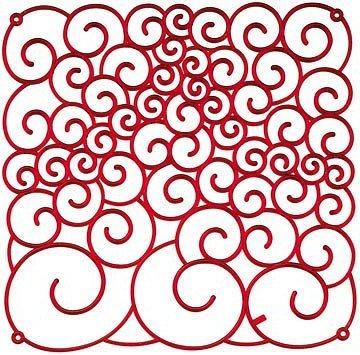 Panel dekoracyjny Amadeus czerwony