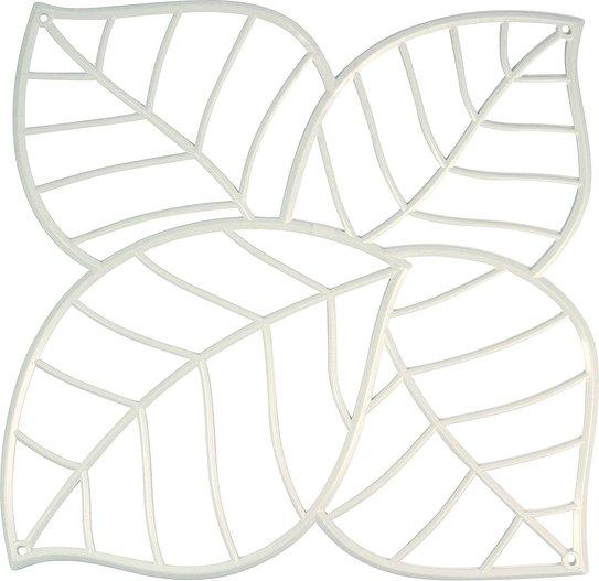 Panel dekoracyjny Leaf 4 szt. biały