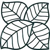 Panel dekoracyjny Leaf czarny