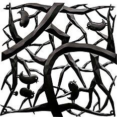 Panel dekoracyjny Pi:P 4 szt. czarny