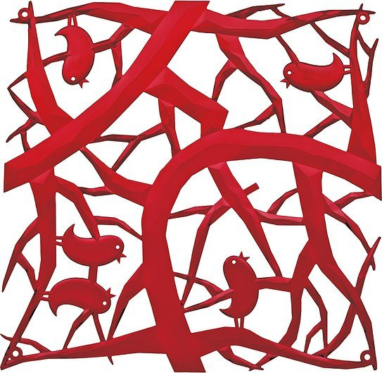 Panel dekoracyjny Pi:P 4 szt. czerwony transparentny