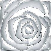 Panel dekoracyjny Romance 4 szt. antracytowy transparentny