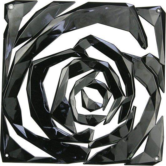 Panel dekoracyjny Romance 4 szt. czarny