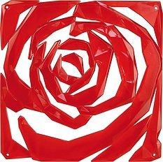 Panel dekoracyjny Romance 4 szt. czerwony transparentny