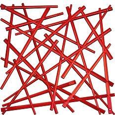Panel dekoracyjny Stixx 4 szt. czerwony transparentny