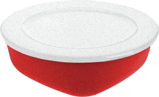 Pojemnik Connect Organic 1,3 l czerwony z pokrywką