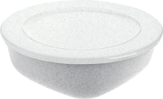 Pojemnik Connect Organic 1,3 l szary z białą pokrywką