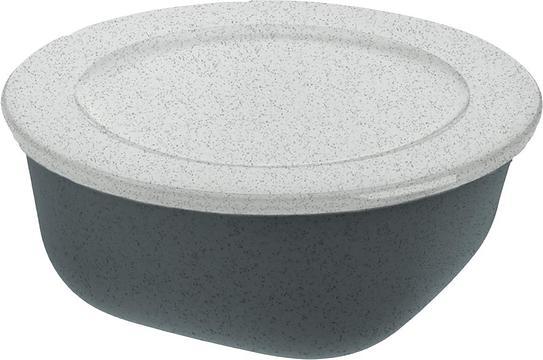 Pojemnik Connect Organic 700 ml ciemnoszary z pokrywką