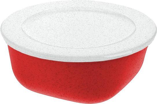 Pojemnik Connect Organic 700 ml czerwony z pokrywką