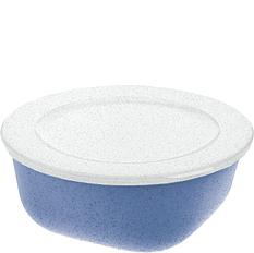 Pojemnik Connect Organic 700 ml niebieski z białą pokrywką