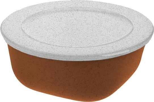 Pojemnik Connect Organic 700 ml rdzawy brąz z pokrywką