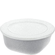 Pojemnik Connect Organic 700 ml szary z białą pokrywką
