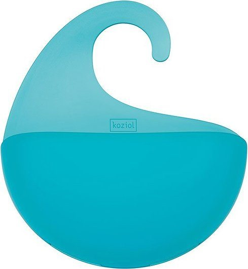 Półka łazienkowa Surf turkusowa transparentna