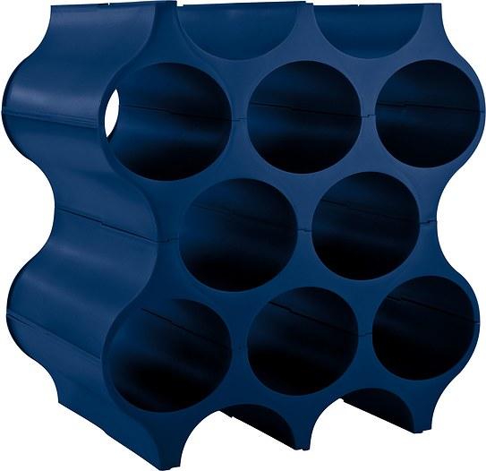 Stojak na butelki Set Up welwetowy błękit