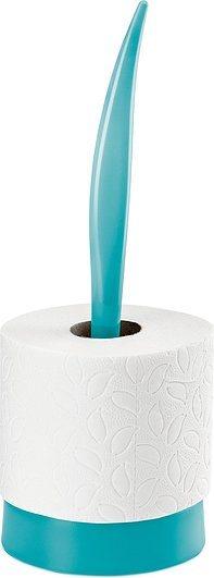 Stojak na papier toaletowy Sense turkusowy