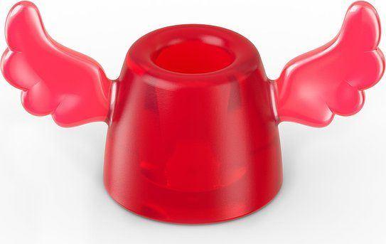 Stojak na szczoteczkę do zębów Hermes czerwony transparentny
