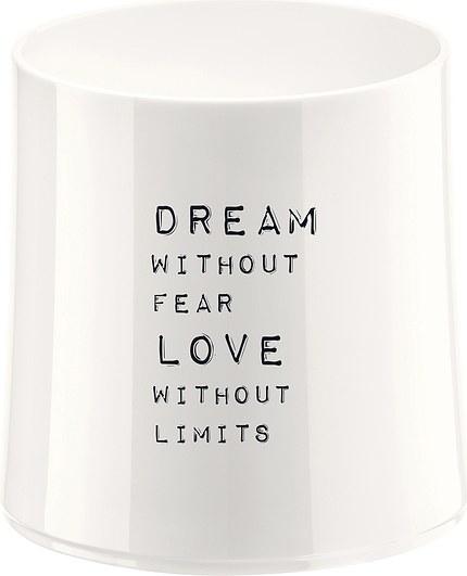 Szklanka Cheers biała z ilustracją Dream without Fear