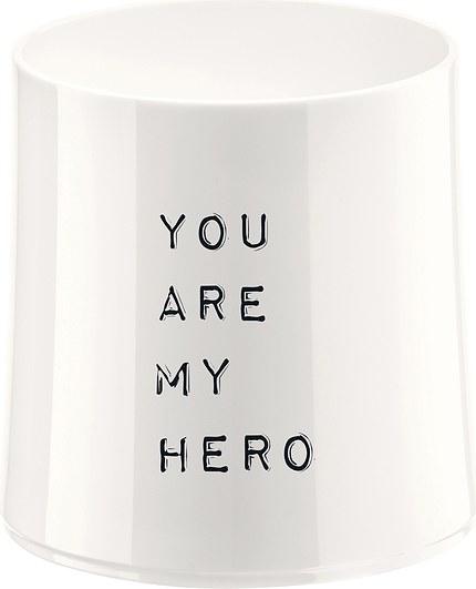Szklanka Cheers biała z ilustracją You are my Hero
