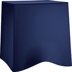 Taboret Briq welwetowy błękit