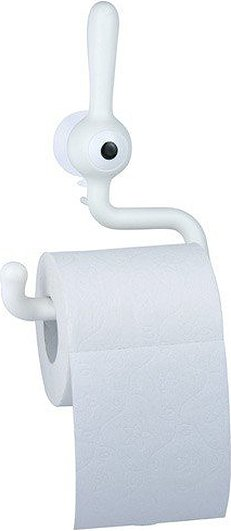 Wieszak na papier toaletowy Toq biały